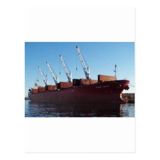 Cargo Ship Stove Trader taking on cargo. Postcard