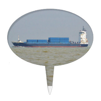 Cargo Ship Vantage Cake Toppers