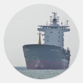 Cargo Ship Yusuf Cepnioglu Classic Round Sticker