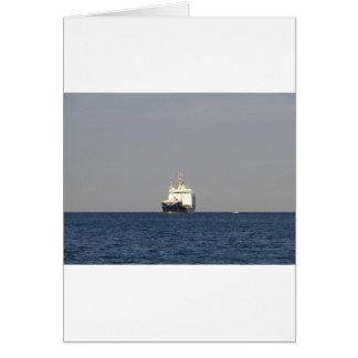 Cargo Ship Zefyros In The Distance Card