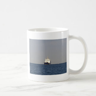 Cargo Ship Zefyros In The Distance Coffee Mug
