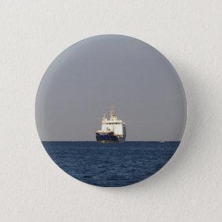 Cargo Ship Zefyros In The Distance Pinback Button