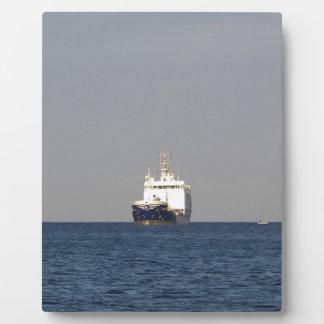 Cargo Ship Zefyros In The Distance Plaque