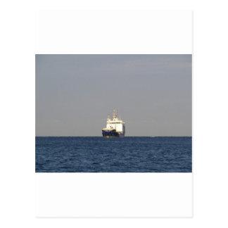 Cargo Ship Zefyros In The Distance Postcard