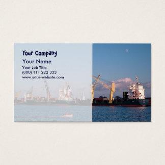 Cargo ships business card