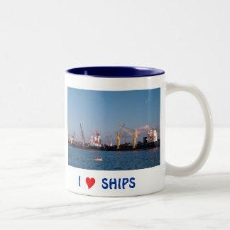Cargo ships Two-Tone coffee mug