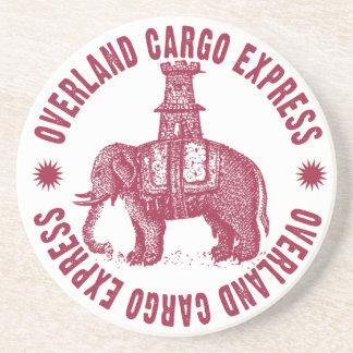 Cargo terrestre del elefante expreso posavasos cerveza