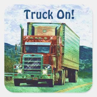 Cargo Truck Big Rig Driver Sticker Series