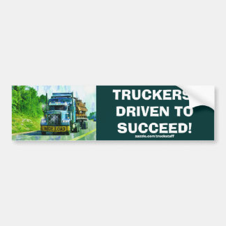 CARGO TRUCK BIG RIG TRUCKERS Bumper Sticker