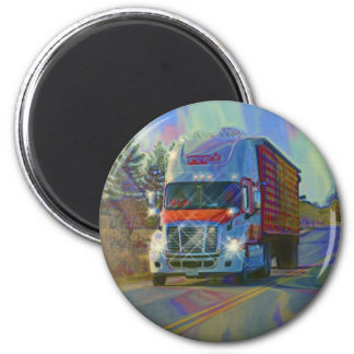 CARGO TRUCK BIG RIG TRUCKERS Gifts 2 Inch Round Magnet