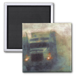 CARGO TRUCK BIG RIG TRUCKERS Gifts 2 Inch Square Magnet