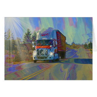 CARGO TRUCK BIG RIG TRUCKERS Gifts Card
