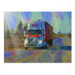 CARGO TRUCK BIG RIG TRUCKERS Gifts Postcard
