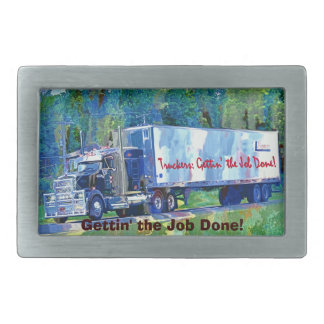 Cargo Truck Driver Tribute Transport Buckle Belt Buckle