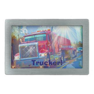 Cargo Truck Drivers Transport Buckle Rectangular Belt Buckle
