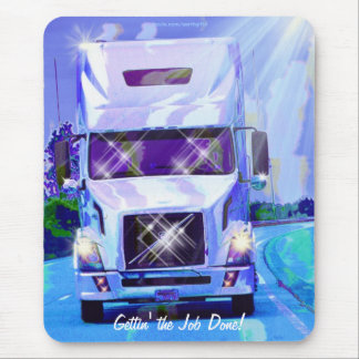 Cargo Truck Highway Driving Art Mousepad