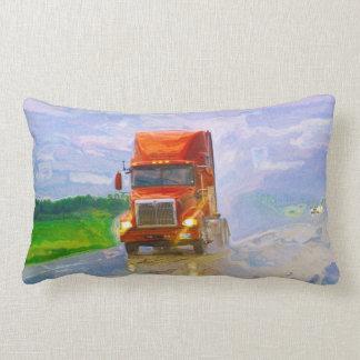 Cargo Truck North American Highway Art Pillow