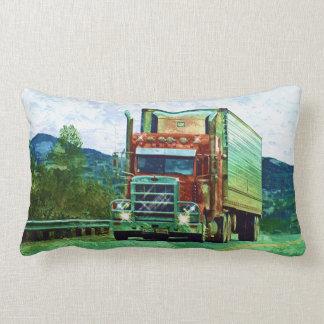Cargo Truck Yukon-Alaska Highway Art Pillow