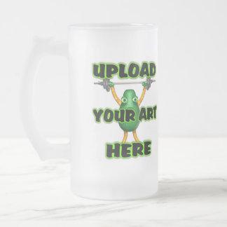cargue el arte a la taza grande del vidrio esmeril