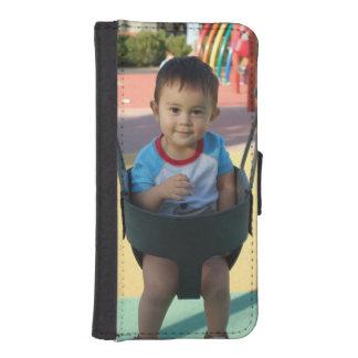 Cargue su caja de encargo de la cartera de la foto funda tipo cartera para iPhone 5