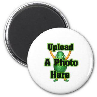 Cargue su foto a los productos de la plantilla imán redondo 5 cm
