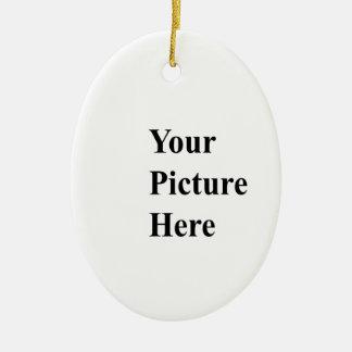 Cargue su propia imagen encendido aquí adorno ovalado de cerámica