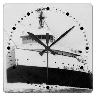 Carguero de Great Lakes del vintage de Edmund Reloj Cuadrado