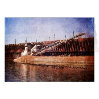 Carguero de Great Lakes del vintage Tarjeta De Felicitación
