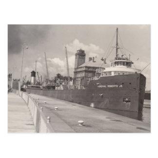 Carguero del barco del mineral del Jr. del vintage Postal