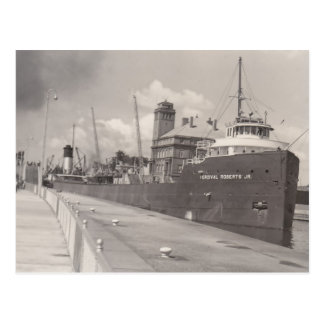 Carguero del barco del mineral del Jr. del vintage Tarjetas Postales