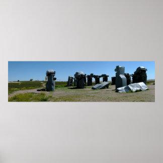 Carhenge, Nebraska Panoramic 2 Poster