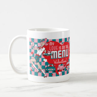 Carhop Retro Drive-In Valentine Mug
