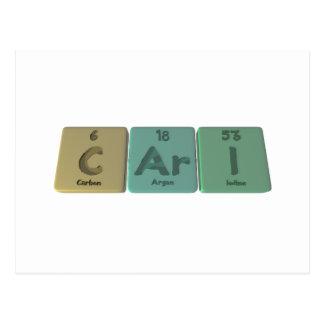 Cari as Carbon Argon Iodine Postcard