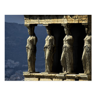 Cariátides, Acroplis, Atenas Tarjeta Postal