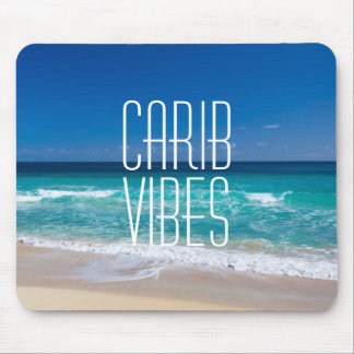 Carib Vibes Tropical Beach Turquoise Water Mouse Pad