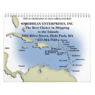 caribbean2-map, EMPRESAS DEL CARIBE, INCThe B… Calendario