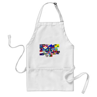 caribbean adult apron