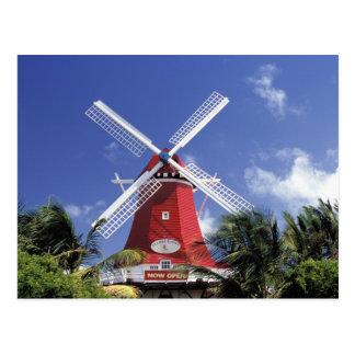 Caribbean, Aruba. Old Mill, converted into 'Mill Postcard
