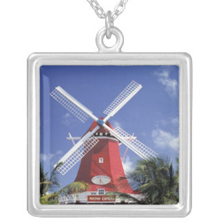 Caribbean, Aruba. Old Mill, converted into 'Mill Silver Plated Necklace