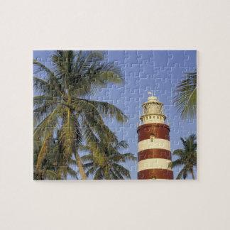 Caribbean, Bahamas, Abaco, Elbow Cay. Hopetown Jigsaw Puzzle