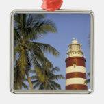 Caribbean, Bahamas, Abaco, Elbow Cay. Hopetown Metal Ornament