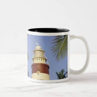 Caribbean, Bahamas, Abaco, Elbow Cay. Hopetown Two-Tone Coffee Mug