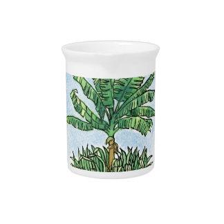 Caribbean banana tree drink pitcher