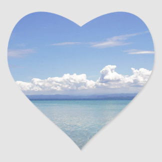 caribbean bay heart sticker