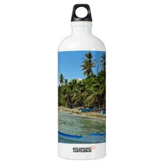 caribbean beach aluminum water bottle