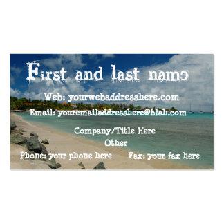 Caribbean Beach and Ocean Business Card