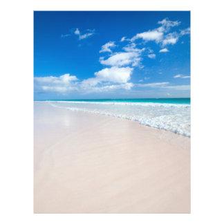 Caribbean beach and sea flyer