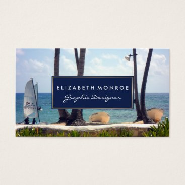 Beach Themed Caribbean Beach Business Card