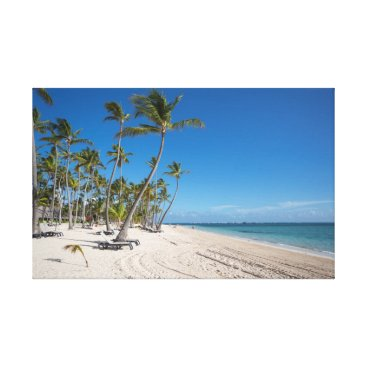Beach Themed Caribbean Beach Canvas Print
