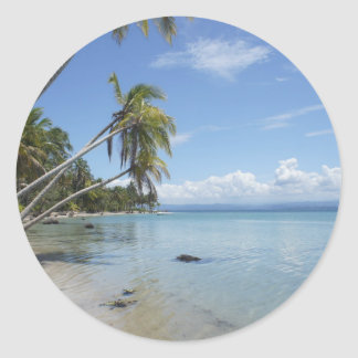 caribbean beach classic round sticker